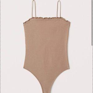 Abercrombie ruffle cami bodysuit